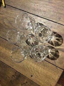 lot de 5 verres ANCIEN en cristal