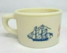 Vintage Old Spice SHIP GRAND TURK Salem 1786 SHAVING MUG Milk Glass SHULTON