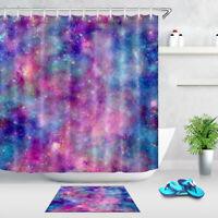 Galaxy Cosmos Nebula Shower Curtain Set for Bathroom Bath Accessories Extra Long