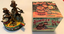 JUNGLE TRIO Rare LINEMAR Japan Battery Operated Vintage Tin Toy Tested Works!