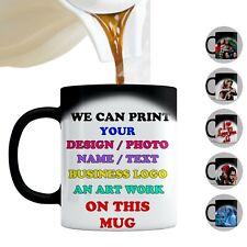 Personalised Magic Mug Wow Magic Cup Black Heat Color Changing Tea Coffee Gift