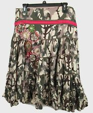 Spy Zone Exchange Embellished Camo Womens Gypsy Skirt New Square Dancing Large