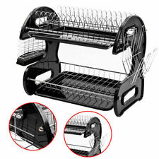 New listing 2-Tier Multi-function Stainless Steel Dish Drying Rack,Cup Drainer Strainer Home