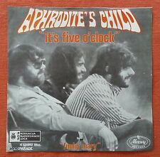 APHRODITE'S CHILD-IT'S FIVE O CLOCK RARE YUGOSLAVIAN 7'' PS 1970 UNIQUE LABEL