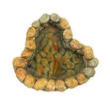 Miniature Fairy Garden Stone Koi Fish Pond Landscape Decor Dollhouse Accessory