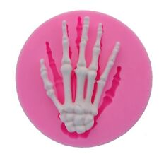 SKELETON HAND SILICONE MOULD-HALLOWEEN CHOCOLATE/FONDANT MOLD-CAKE TOPPER-BONES