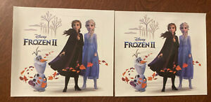 Lot Of 2 Disney Movie Club Exclusive Frozen II Sticker REMOVABLE Decal Elsa Olaf