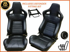 Paire de direct fit BB6 chauffé inclinable sièges baquets noir compatible landrover defender