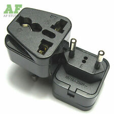 Travel Power Adapter Plug UK US AU to EU Euro AC Power Charger Converter Socket