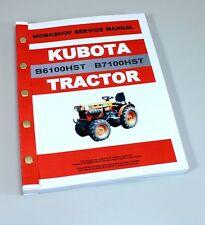 Kubota B6100hst B7100hst Tractor Service Repair Manual Technical Shop Book