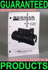 NEW INSTALLATION REPAIR MANUAL COPY 4 BENMAR CP-3050 A BUS RV BOAT WATER HEATER
