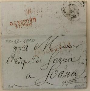 1810 NAPOLEONICA PARIS - DEB. 114 GROSSETO  DEPARTEMENT DE CONQUIS OMBRONE  RARA