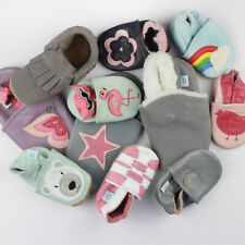 Baby Girl Shoe Bundle Dotty Fish Soft Leather Pram Shoe Non-slip Pre-walkers New