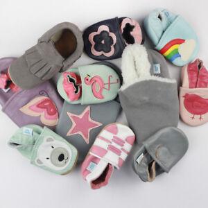 Baby Girl Shoe Bundle Dotty Fish Soft Leather Pram Shoe Non-slip Pre-walkers New