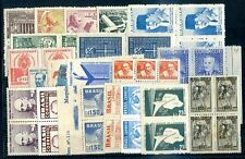 BRAZIL 21 DIFFERENT BLOCK OF 4 MNH - MH, VF