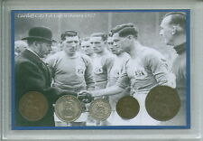 Cardiff City The Bluebirds Vintage Fred Keenor FA Cup Winners Coin Gift Set 1927