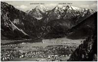 Ruhpolding Bayern  Postkarte 1957 gelaufen Panorama mit Reifelberg Sonntagshorn
