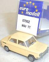 NSU Tt Beige imu / Euromodell 07002 H0 1/87 Emb.orig # Ll 1 Å