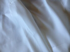 102 cm  wide White Satin poly nylon material, lining, fabric sold prt mtr