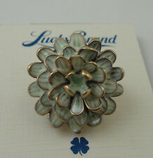 Lucky Brand Gold Tone Enamel Floral Flower Ring Size 7 NWT