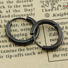 Men's Women's Punk  Stainless Steel Tube Ear Studs Hoop Huggie Earrings Jewelry