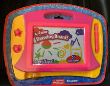 """Grin Studios 4 Color Drawing & Erase Board 5"""" Screen w/Pen & 2 Stampers,NEW Pink"""