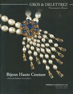 GROS & DELETTREZ HAUTE COUTURE COSTUME JEWELRY Chanel Goosens YSL Catalog 2013
