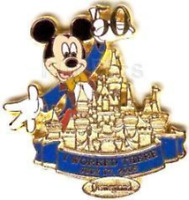 Disney Pin 39967 DLR Cast Member I Worked There 50th Anniversary Mickey 2005 *