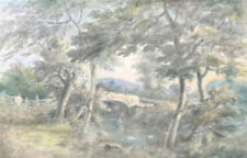 Antique (Pre-1900) Pastel Art Paintings