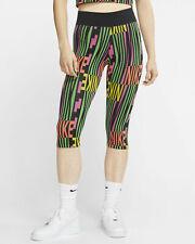 Nike Sportswear Capri Women's Black Multi Color Short Pants Capri Leggings