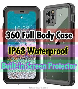 360 Full Body Waterproof Drop Proof Case for  iPhone 11 Pro XS Max XR X 7 Plus