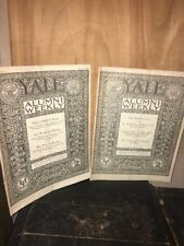 YALE ALUMNI WEEKLY Magazines May 7&21, 1926 Issues.