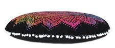 "28"" Round Pillow Cover Multi Tie Dye Mandala Floor Cushion Covers"