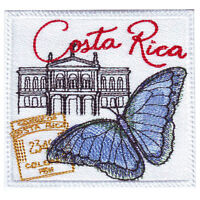 Costa Rica Stamp Embroidered Patch