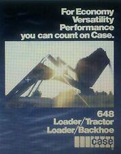 Case 648 Loader Backhoe Compact Garden Tractor FULL COLOR Sales Brochure 12pg