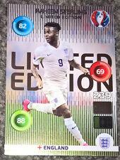 Panini euro 2016 ADRENALYN XL Raheem Sterling Inglaterra tarjeta de edición limitada