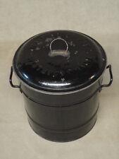 Rare Patented 1905 Westbrook MAINE ME Metal Tin Beanpot Bean Pot