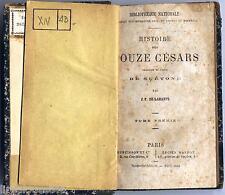 Histoire des douze césars Suetone par De Laharpe chez Dubuisson + Marpon 1864 T1