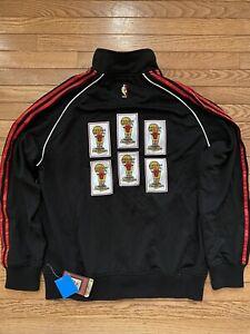 Adidas Chicago Bulls Jordan Championship Banners Jacket RARE Medium New Tags