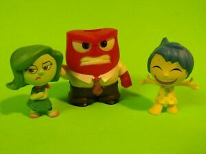Disney Pixar INSIDE OUT (Anger, Joy & Disgust)  Character Toys