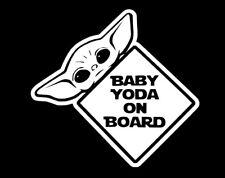 Baby Yoda on board Cute decal,sticker ,car,laptop,window,drift,jdm,vag,astra