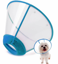 IN HAND Dog Adjustable Padded Protective Recovery Collar Cone Med Blue (A009)