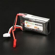 7.4V 600mAh 2S 30C Lipo Battery JST Plug Recharge Battery For RC Toy Model ar ec