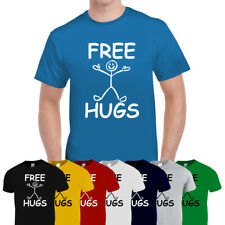 Free Hugs Funny Mens Cotton Tee T-Shirt Top Gift Unisex Multi Colours