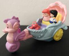 Fisher Price Little People ARIEL'S COACH Disney Little Mermaid Figures Musical