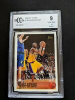 1996 Topps Kobe Bryant #138 Rookie RC LA Lakers Basketball BGS BCCG 9 Mint HOF