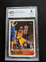1996 Topps Kobe Bryant #138 Rookie RC LA Lakers Basketball BGS BCCG 9 Mint HOF