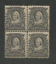 1902 United States Postage Stamp #306 Mint Never Hinged Original Gum Block of 4