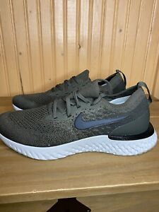 Nike Epic React Flyknit Sneakers Olive Green AQ0067-300 Mens Size 7.5