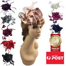 Women's Fashion Fascinators Spring Races Melbourne Cup Wedding Hat Satin Finish